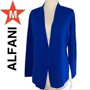 ALFANI open cardigan medium Blue NWT